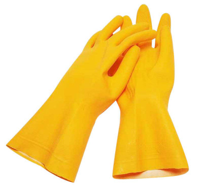 A yellow rubber gloves handjob for the pool boy 3