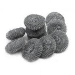 no.18) small galvanised steel scourers