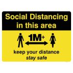 distance 1m